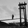Foot bridge on the way to Gulkana glacier