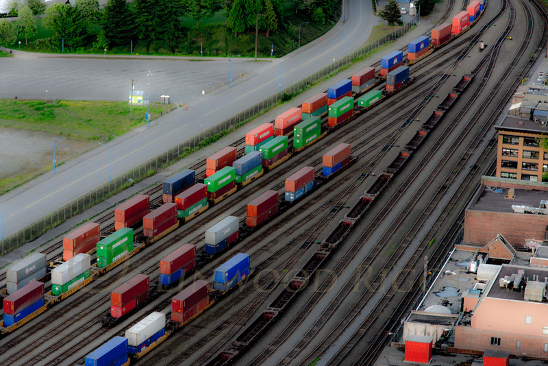 Rail yard in Vancouver, BC