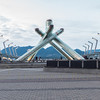 The Olympic torch from the 2010 Winter games.