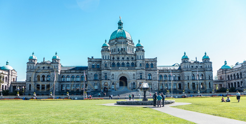 This is the Parliament Building in Victoria, the capital of British Columbia.