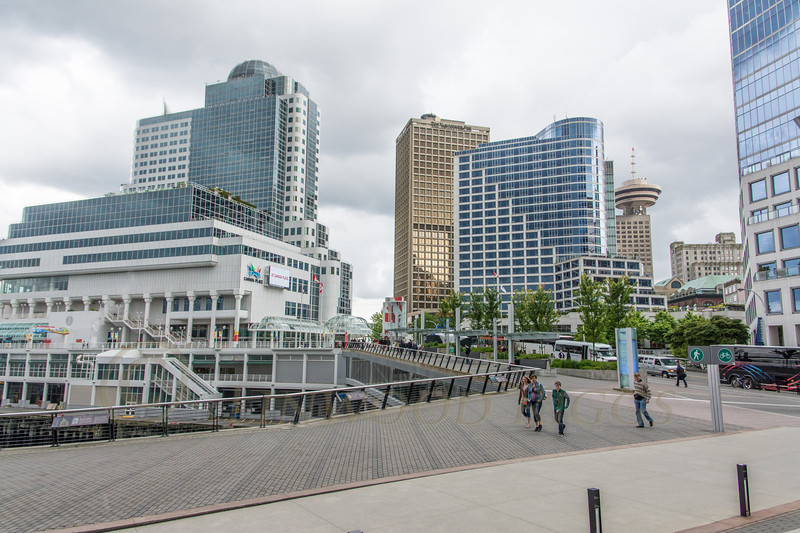 This is Canada Place in Vancouver - the major cruise ship terminal.