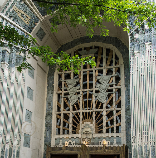 Entrance to the Marine Building, built in 1930. A wonderful example of the Art Deco style.
