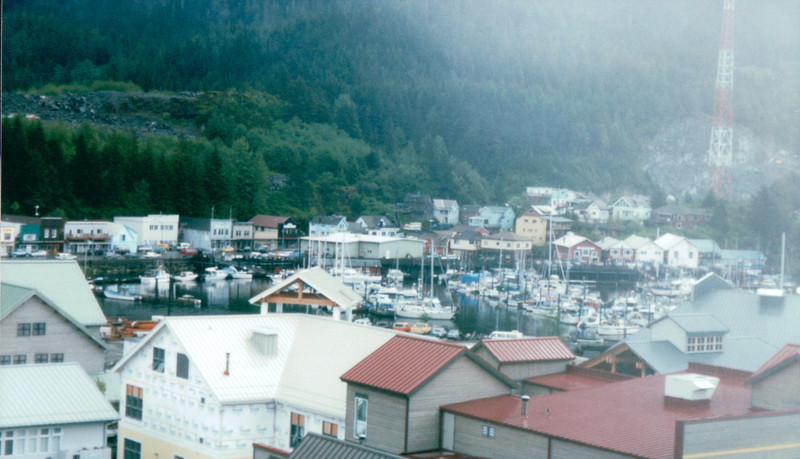 View From Ship of Ketchikan, Alaska<br /> Alaska Inside Passage Cruise - Seward, Alaska to Vancouver, Canada - Holland America Cruise Lines  - May 17-24, 1998