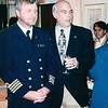 Dutch Captain and Jim Jenks - Gathering in Jenks' Cabin<br /> Alaska Inside Passage Cruise - Seward, Alaska to Vancouver, Canada - Holland America Cruise Lines  - May 17-24, 1998