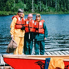 Randal, Donna and Louise - Ready to Board Canoe - Mountain Lake Canoe Adventure - Ketchikan, Alaska<br /> Alaska Inside Passage Cruise - Seward, Alaska to Vancouver, Canada - Holland America Cruise Lines  - May 17-24, 1998