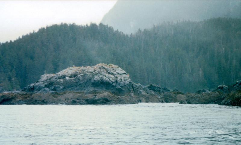 View From Ship - On Way to Juneau, Alaska<br /> Alaska Inside Passage Cruise - Seward, Alaska to Vancouver, Canada - Holland America Cruise Lines  - May 17-24, 1998