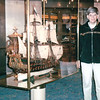 Randal at Replica of Ship<br /> Alaska Inside Passage Cruise - Seward, Alaska to Vancouver, Canada - Holland America Cruise Lines  - May 17-24, 1998
