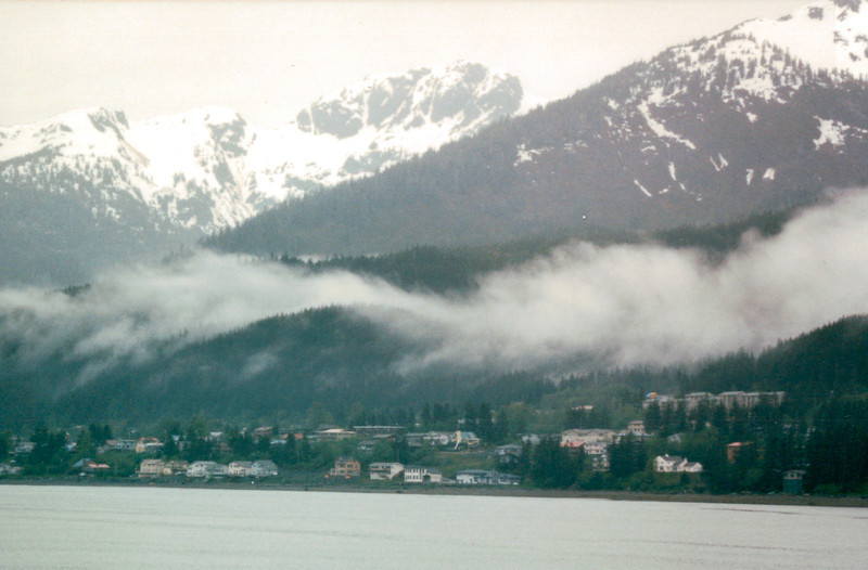 First Sight of Juneau, Alaska<br /> Alaska Inside Passage Cruise - Seward, Alaska to Vancouver, Canada - Holland America Cruise Lines  - May 17-24, 1998