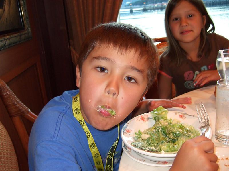 Ethan enjoys seefood.