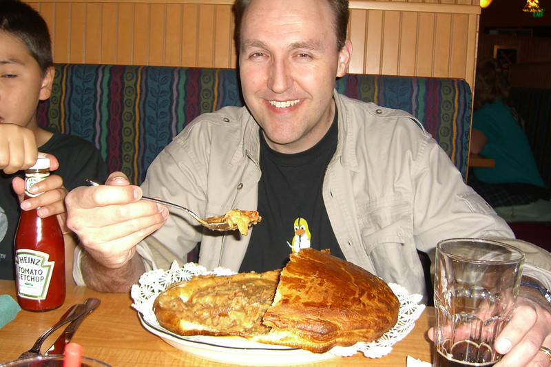 For our last dinner in Alaska, we ate cajun.  This is a crawfish pie.  It was really good.