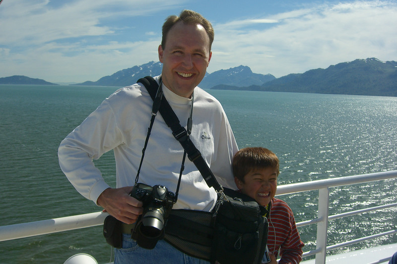Ethan and I enjoyed all the photo opportunities in Glacier Bay.