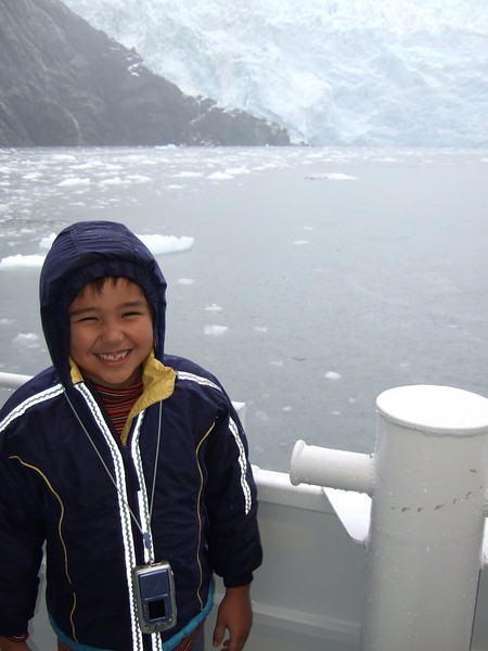 Ethan liked the excitement of the boat bouncing around on the rough seas.