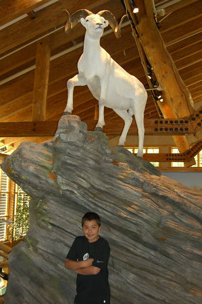 Austin at the Denali Visitors Center.