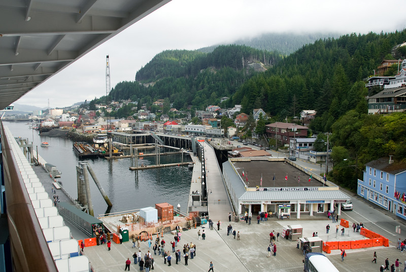 The Ketchikan port, as seen from our balcony.  It's pretty neat to wakeup to this view.