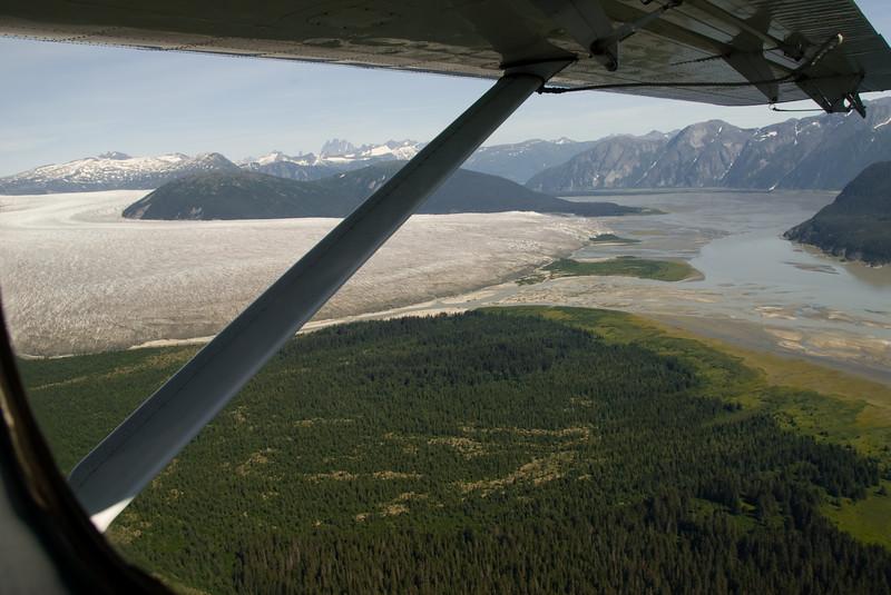 The glacier fields start.
