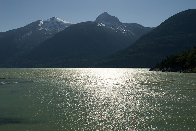 Eva and I went for a hike in Skagway.  I think this is Smuggler's Cove.