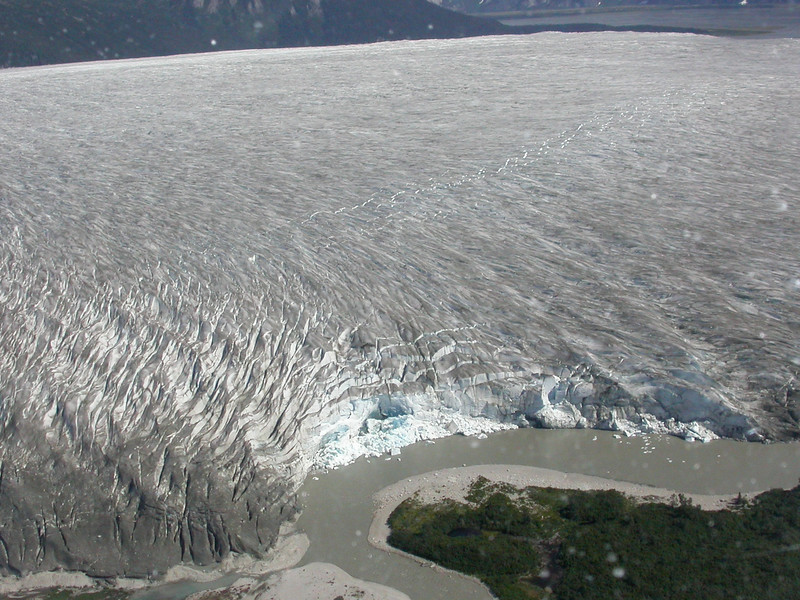 Darn that's a big glacier.