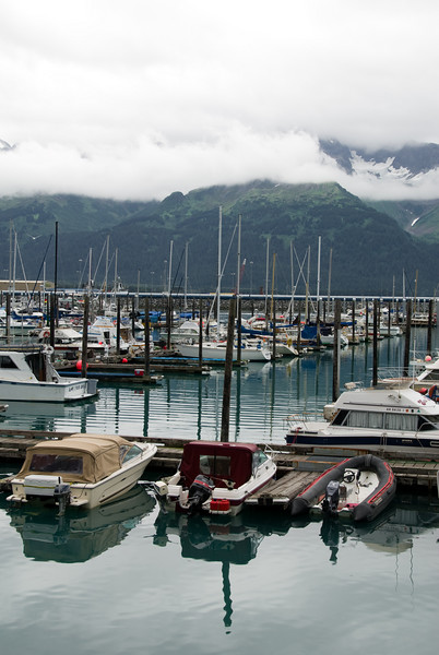 The scenery in Seward is awesome.  Mountains, glaciers, and water pretty much everywhere you look.