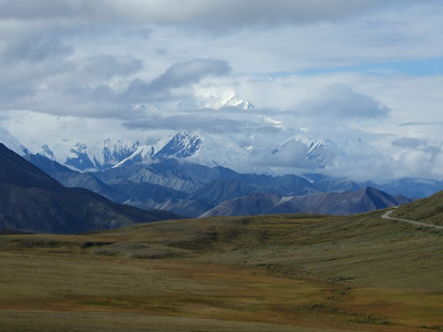 Denali.  The road on the right is the path the shuttles follow.