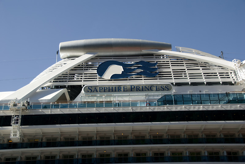 Our ship, the Sapphire Princess.