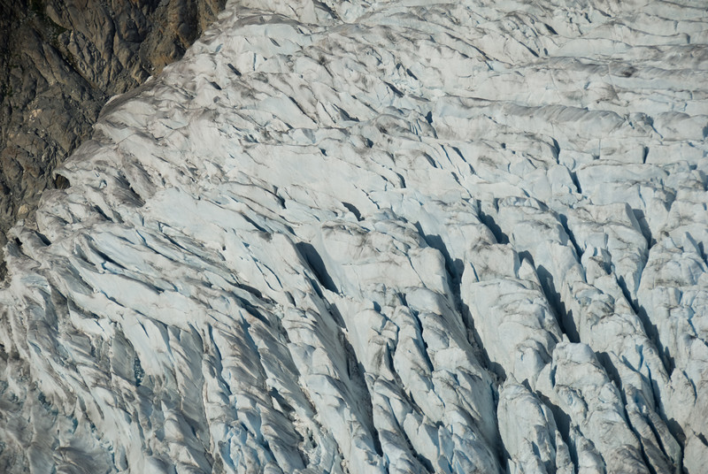 The glaciers look smooth from distance, but from above when you're closer they look pretty impassable.
