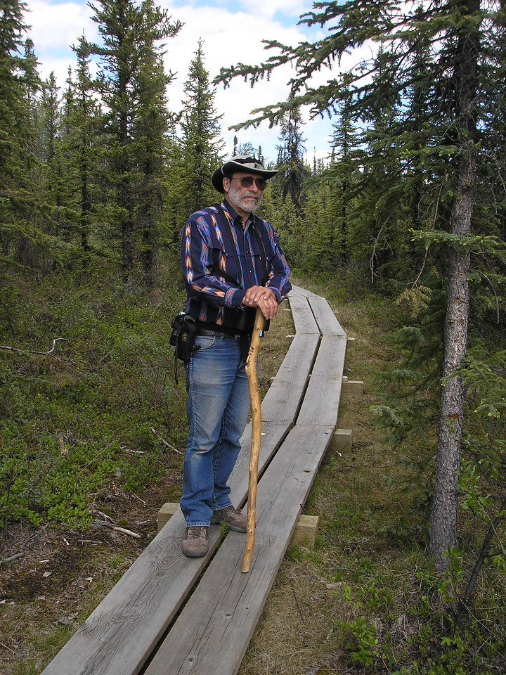 We got to do some walking along a bordwalk to the shoreline of Deadman Lake. It is a boardwalk because the permafrost is very delicate.