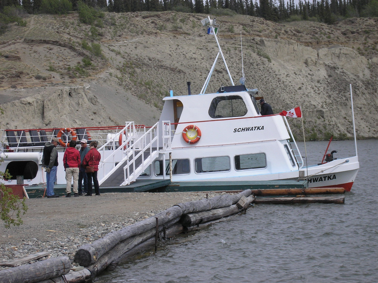 In Whitehorse, Y.T. this is our tour boat for the Yukon River tour we took.