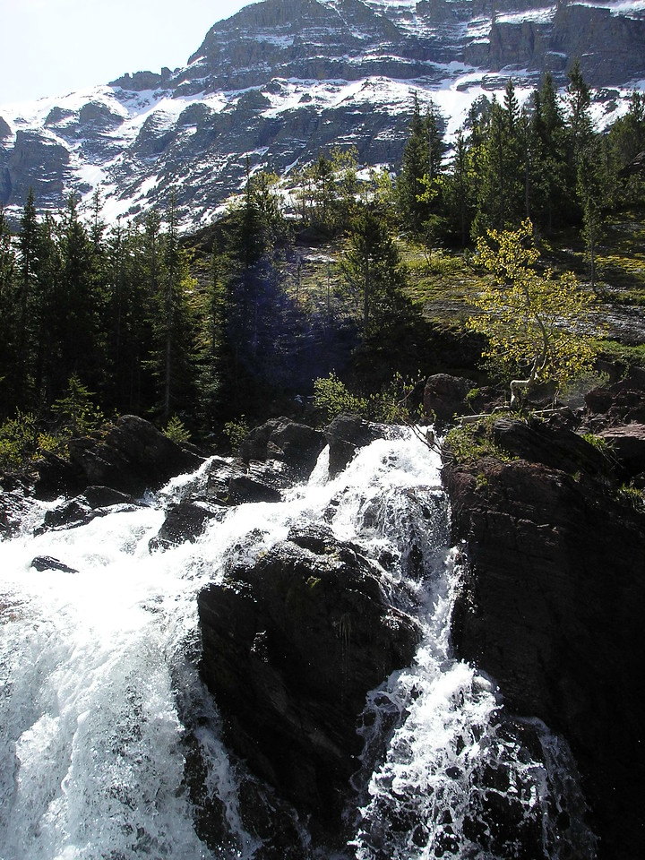 This is Red Rock Falls in Glaicer National Park