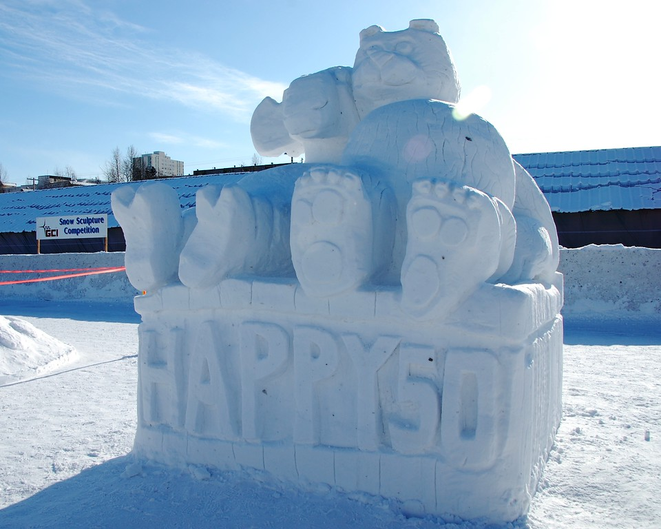 Snow Sculpture - Fur Rondy - Anchorage - Alaska
