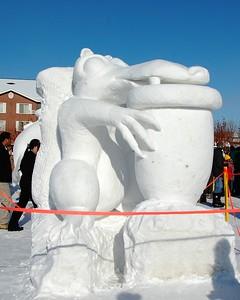 Snow Sculpture - Fur Rondy - Anchorage - Alaska