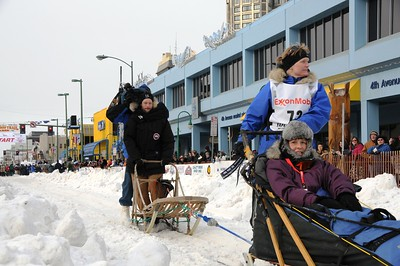 2010 Iditarod- Ceremonial Start - Musher #72 Judy Currier- 03/06/2010 - Fourth Avenue - Anchorage - Alaska