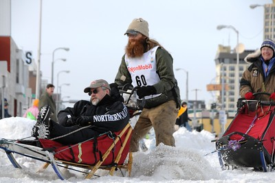 2010 Iditarod- Ceremonial Start - Musher #60 - 03/06/2010 - Fourth Avenue - Anchorage - Alaska