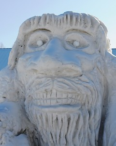 Fur Rondy - Snow Sculptures - Anchorage - Alaska