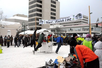 Fur Rondy - Outhouse Races - Anchorage - Alaska