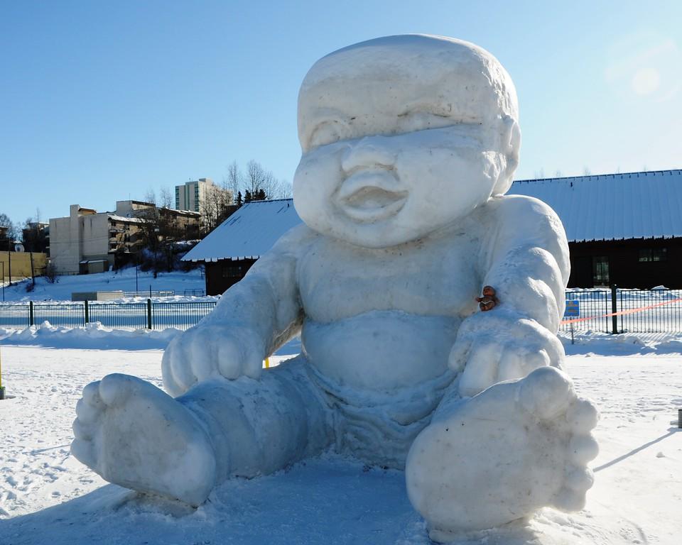 Fur Rondy - Snow Sculptures - Anchorage - Alaska