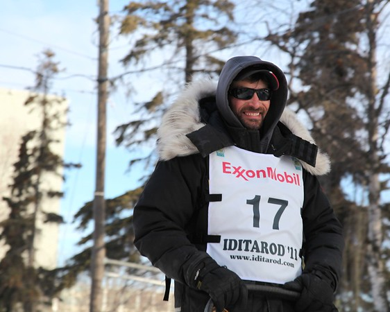 Lance Mackey - 4 Time Winner in a Row - 2011 Iditarod Ceremonial Start - Anchorage - Alaska - USA