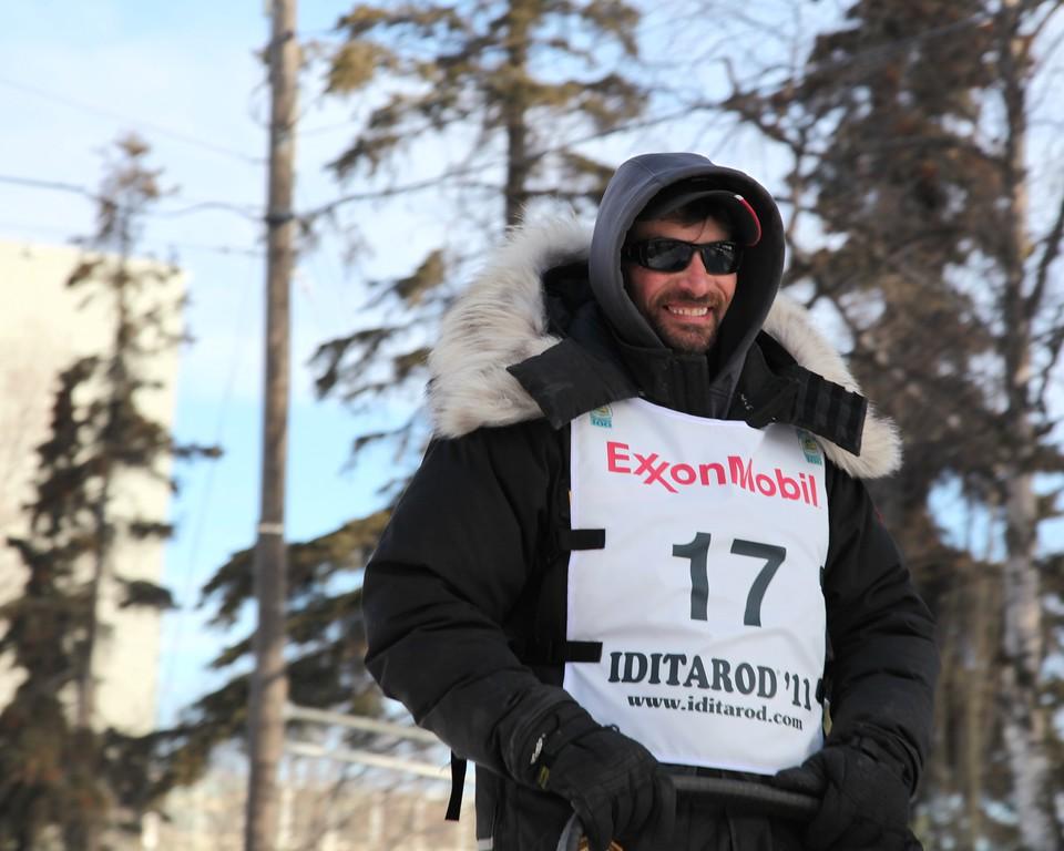 Lance Mackey - 4 Time Winner in a Row - 2011 Iditarod Ceremonial Start - Anchorage - Alaska - USA