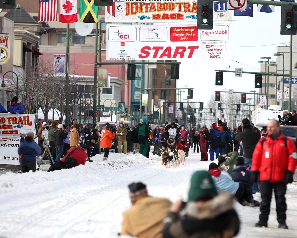 Team 57 - 2011 Iditarod Ceremonial Start - Anchorage - Alaska - USA