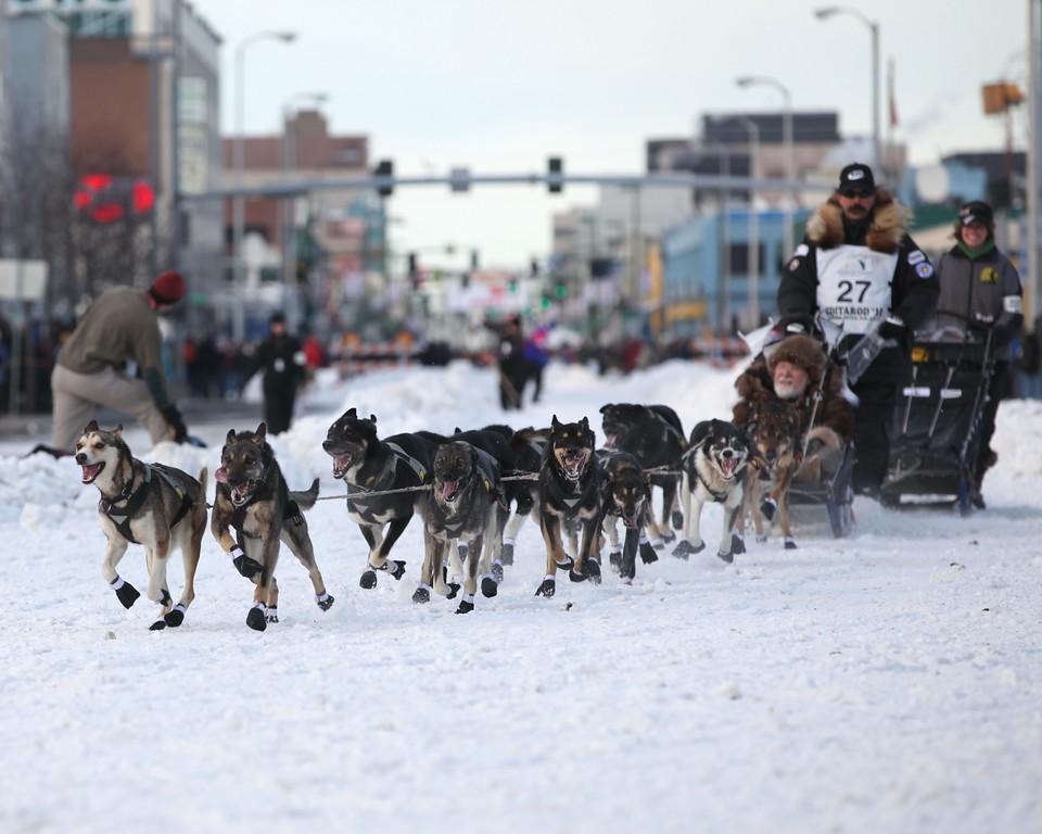 Team 27 - 2011 Iditarod Ceremonial Start - Anchorage - Alaska - USA