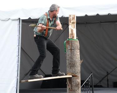 2010 Alaska State Fair - Lumberjack Show - Palmer Fairgrounds - Palmer - Alaska - USA