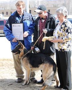 Buddy - Ben Heinrichs - Hero - German Shepherd - Award Ceremony - Anchorage - Alaska