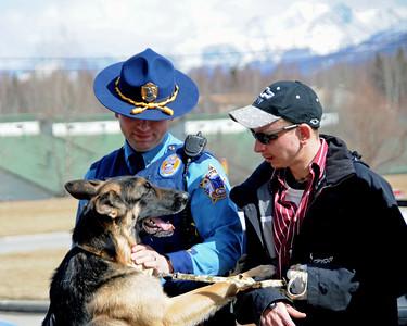 Buddy - Ben Heinrichs - Trooper Shanigan - Hero - German Shepherd - Award Ceremony - Anchorage - Alaska