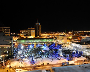 Fire and Ice Celebration - New Year's Eve 12.2010 - Downtown - Anchorage - Alaska - USA
