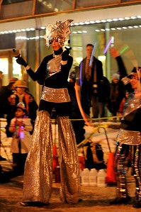 Performer - Fire and Ice Celebration - New Year's Eve 12.2010 - Downtown - Anchorage - Alaska - USA