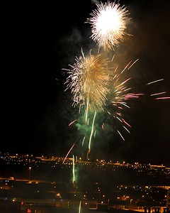 Fireworks - Fire and Ice Celebration - New Year's Eve 12.2010 - Downtown - Anchorage - Alaska - USA