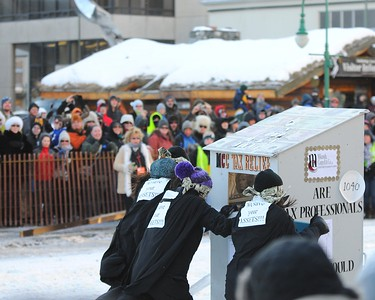 Outhouse Races - Fur Rondy 2011 -  Anchorage - Alaska - USA
