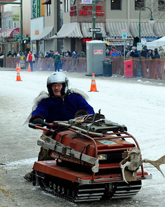 Antique Snowmachine Races - Fur Rondy 2011 - Anchorage - Alaska - USA