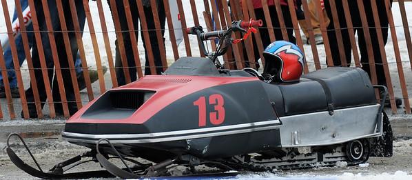Antique Snowmachine Races - Fur Rondy 2011 - Anchorage - Alaska - USA