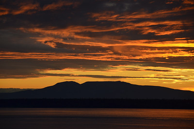 Mount Susitna (4,396 feet) from Anchorage, Alaska.