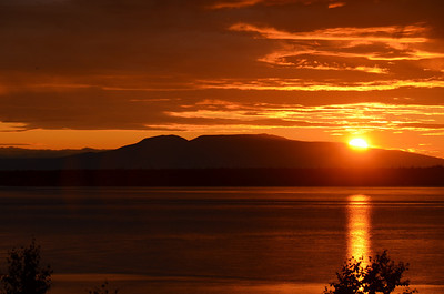 "The ""Sleeping Lady"", Mount Susitna (4,396 feet) from Anchorage, Alaska."